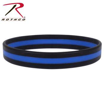 Blue Line Silicone Bracelet