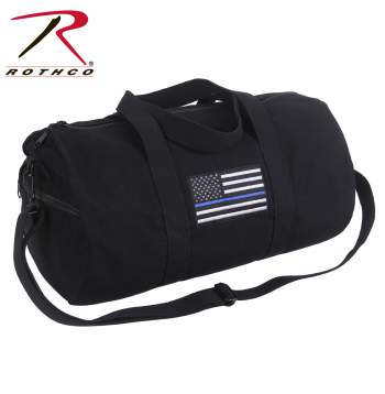 Canvas Shoulder Bag Blue Line Flag