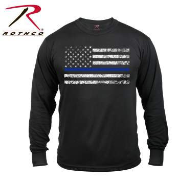 Blue Line Flag Long Sleeve T-Shirt