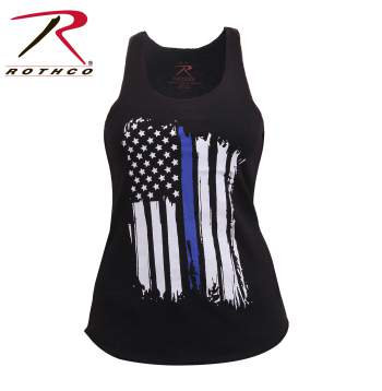 Women's Blue Line Flag Tank Top