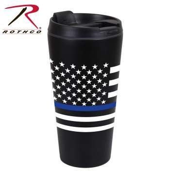 Blue Line Flag Travel Mug