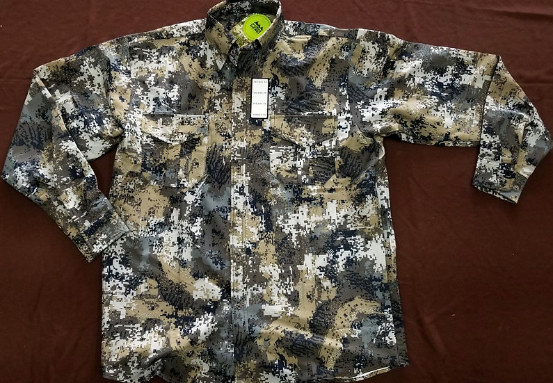 WFS Cotton Button Predator Camo Shirt