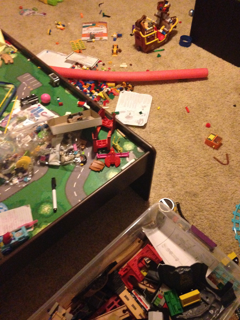 The play room but other rooms getting messy too...