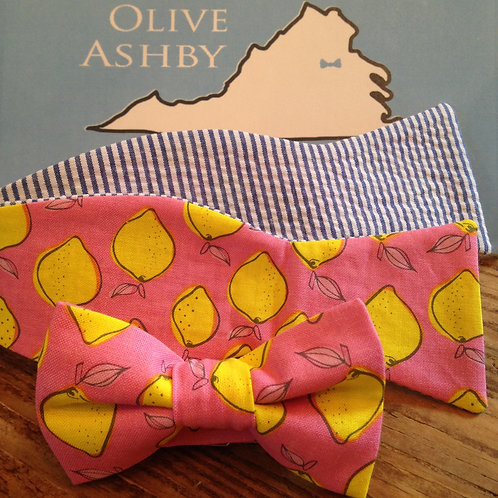 Pink Lemonade boys pre-tied and mens self-tie bow tie