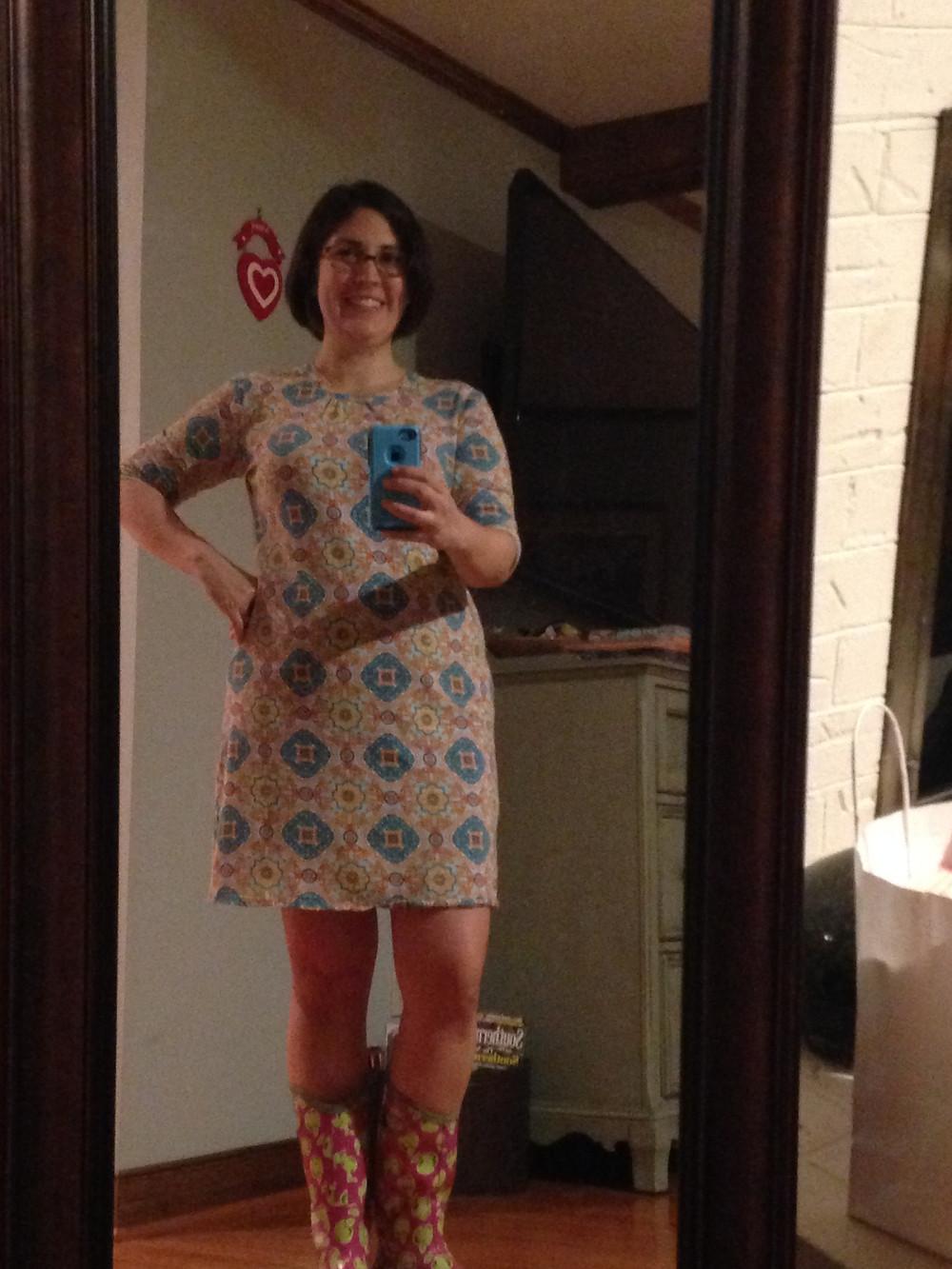 """My classic """"t-shirt"""" dress in Robert Kaufmann jersey knit"""