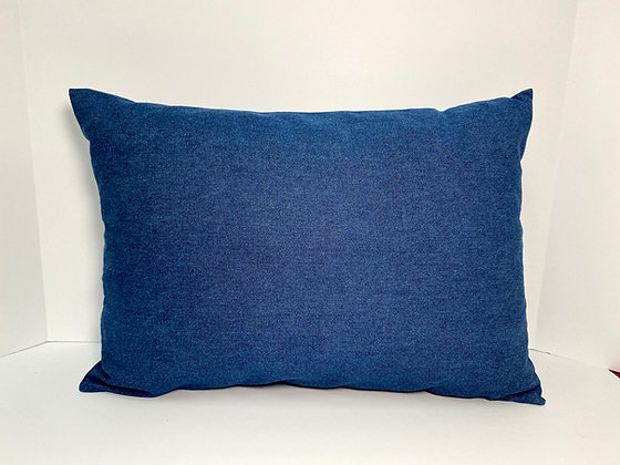 Classic Denim Healing Hearts Pillow 3.0