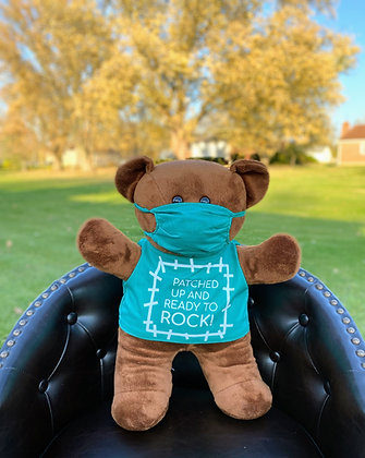 Cardiac Bear - Scrubs - PATCHED UP AND READY TO ROCK!