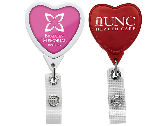 Anti-Microbial Jumbo Heart Badge Reel