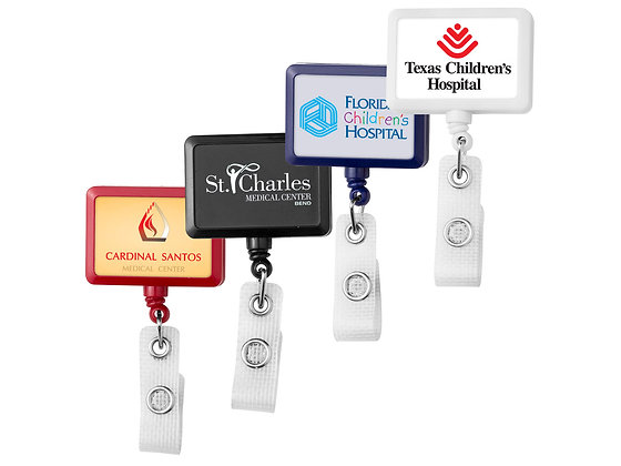 Anti-Microbial Jumbo Rectangle Badge Reel