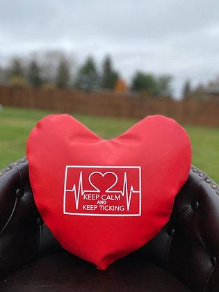 KEEP CALM AND KEEP TICKING - Healing Hearts Pillow