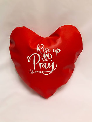 Rise Up and Pray Healing Hearts Pillow
