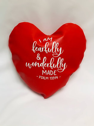 I Am Fearfully and Wonderfully Made Healing Hearts Pillow