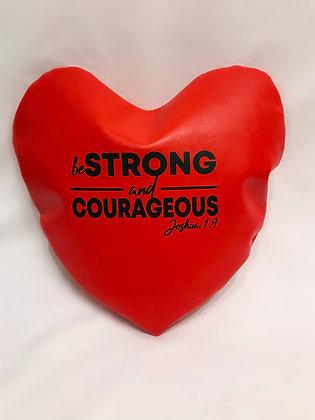 Be Strong & Courageous Healing Hearts Pillow