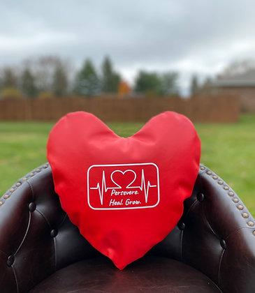 PERSEVERE. HEAL. GROW. - Healing Hearts Pillow