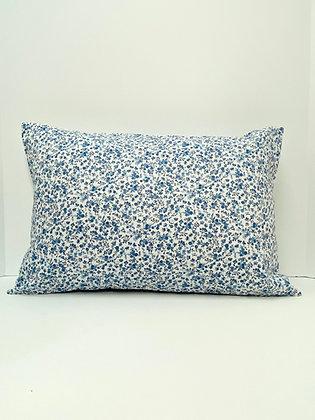 Dainty Blue Flowers Healing Hearts Pillow 3.0