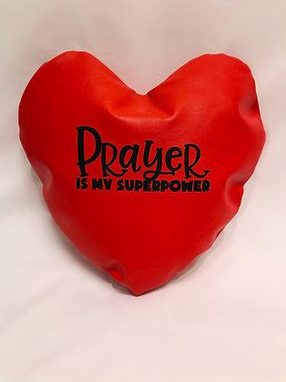 Prayer Is My Superpower Healing Hearts Pillow