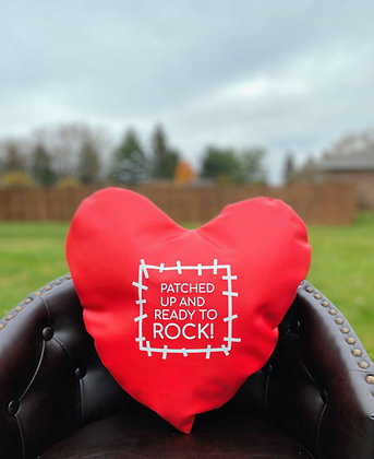 PATCHED UP AND READY TO ROCK! - Healing Hearts Pillow