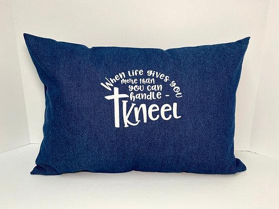 Denim Inspirational Healing Hearts Pillow 3.0