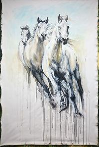 Shirley Anne Owen Horsepower mixed media