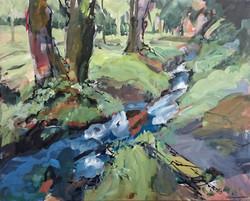 6  Shirley Anne Owen  Yr Hen Goedwig 14 mixed media on canvas  51 x 41cm