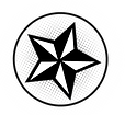 Black and White Star in circle