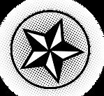 Estrela preto e branco no círculo