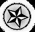 Estrella blanco y negro en el círculo