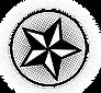 Schwarzweiss-Stern im Kreis
