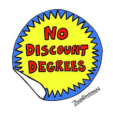 No Discount Degrees Sticker - ZOOM 2_3.j