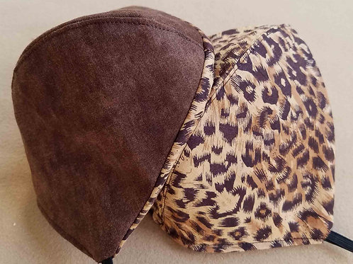 Leopard On Diffused Brown