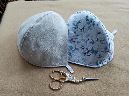 Soft Blue Gray on Linen