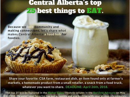 Market Gypsy Eats - Central Alberta's top 25 best things to eat.