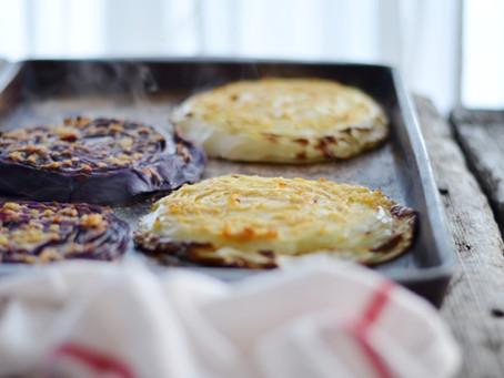 Roasted Cabbage Steaks with Sauce