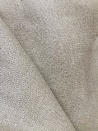 AYURVASTRA Light Stone-Grey Hemp Fabric