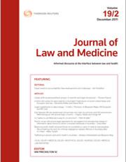New article by Sebastian De Brennan in the Journal of Law & Medicine
