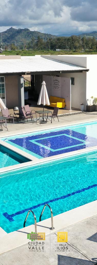 Casa club y piscina