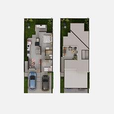 Casa acogedora de 2 dormitorios, 1 baño modelo Milo