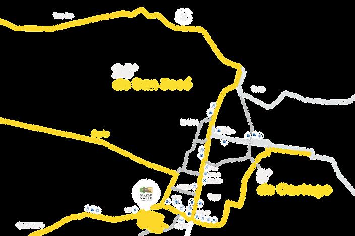 Mapa de ciudad del valle