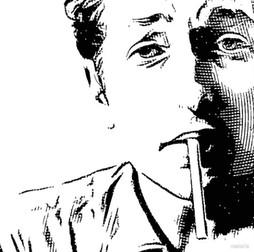 Bob Dylan vector Engraving Artwork