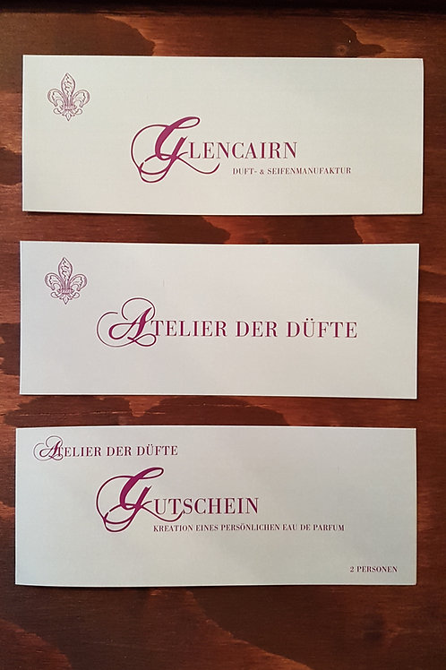 """Gutschein Atelier der Düfte """"Parfüm Kreation 1 Person"""""""
