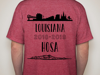 The HOSA T-shirt Designed by Gracee Hess of Belle Chasse High School