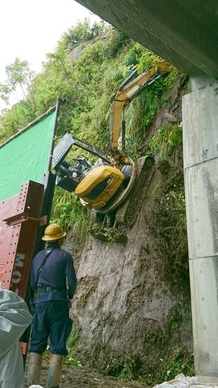 国道344号落石対策工事の現場説明を行いました