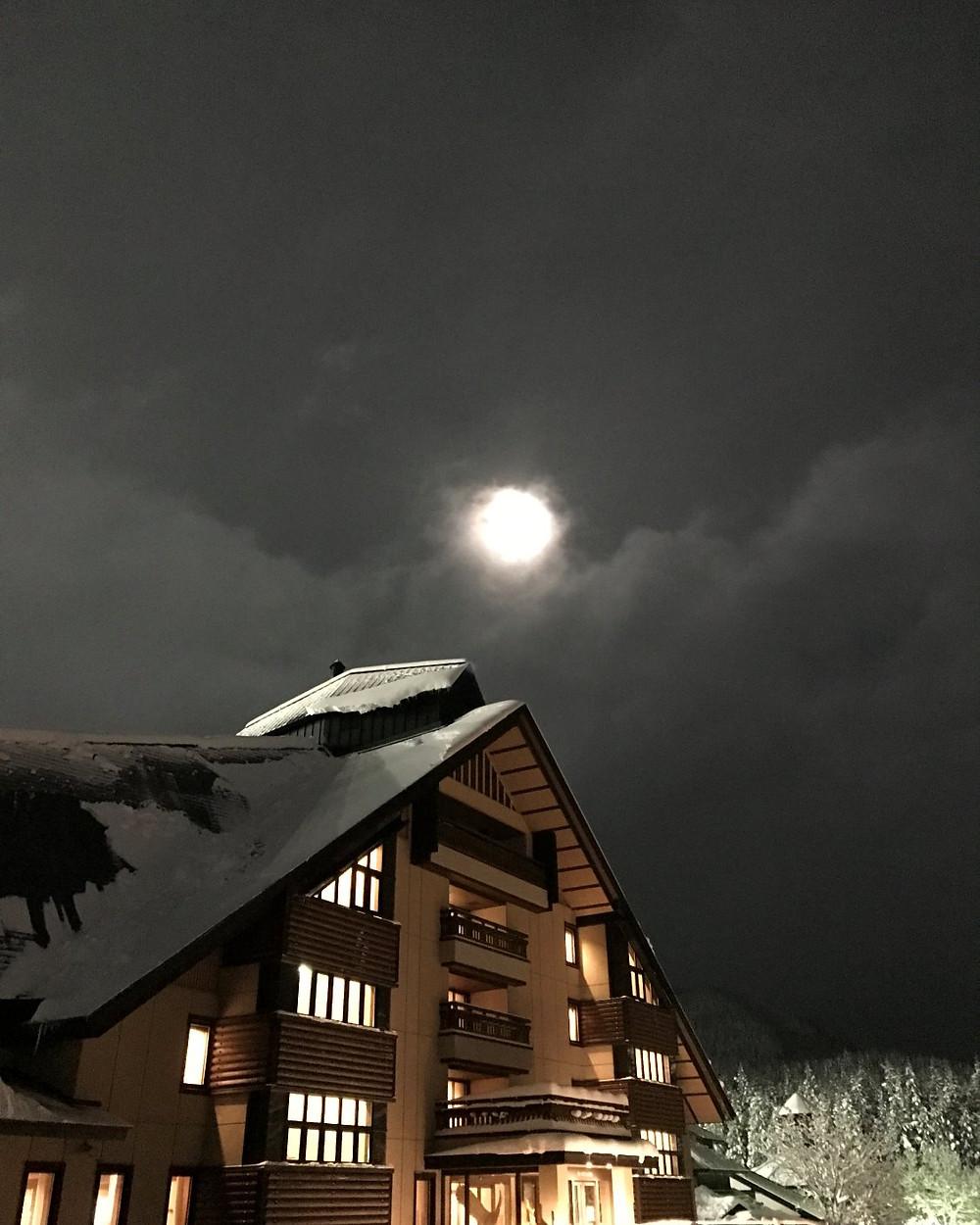なかなか縦にならなかったシェーネスハイムと満月の画像(さ)撮影
