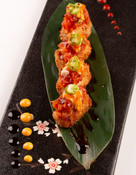 Crispy spicy tuna rice