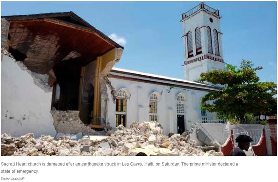 Earthquake Strikes In Haiti
