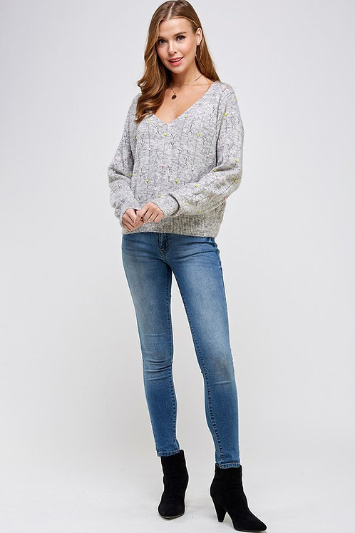 pompom sweater