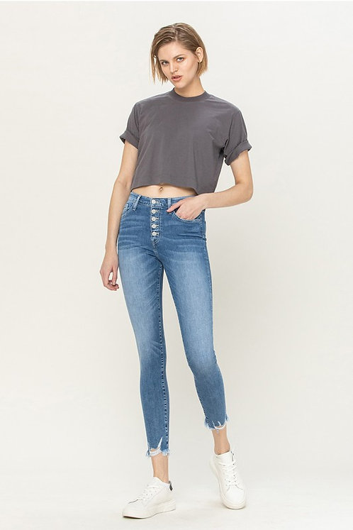 soft button fly hi-rise skinnies
