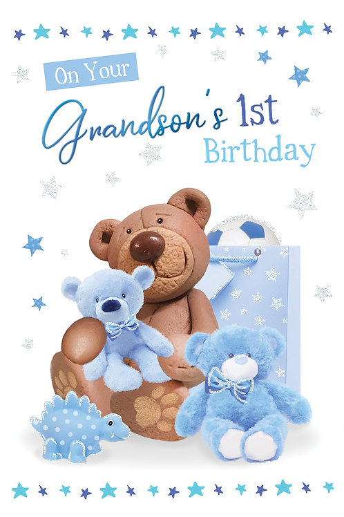 CLA-5030 C50 - Grandson's 1st Birthday MALE (PACK 6)