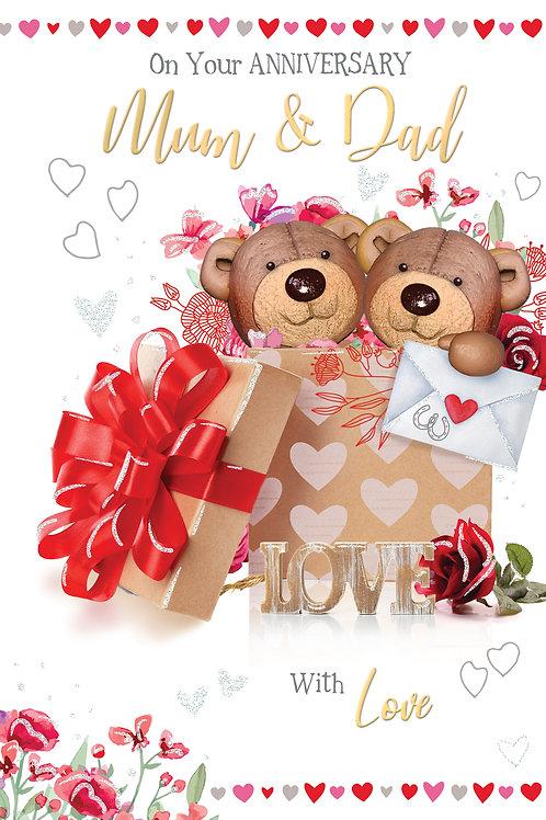 CLA-5021 C50 - Mum & Dad Anniversary  WEDDING (PACK 6)