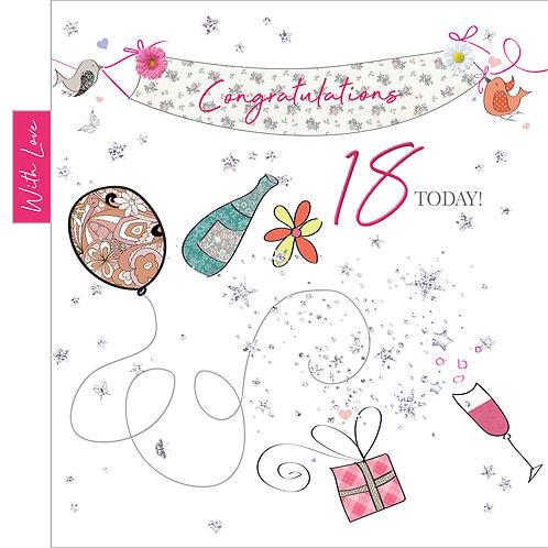 ITG-035 - 18th Birthday FEMALE (PACK 6)